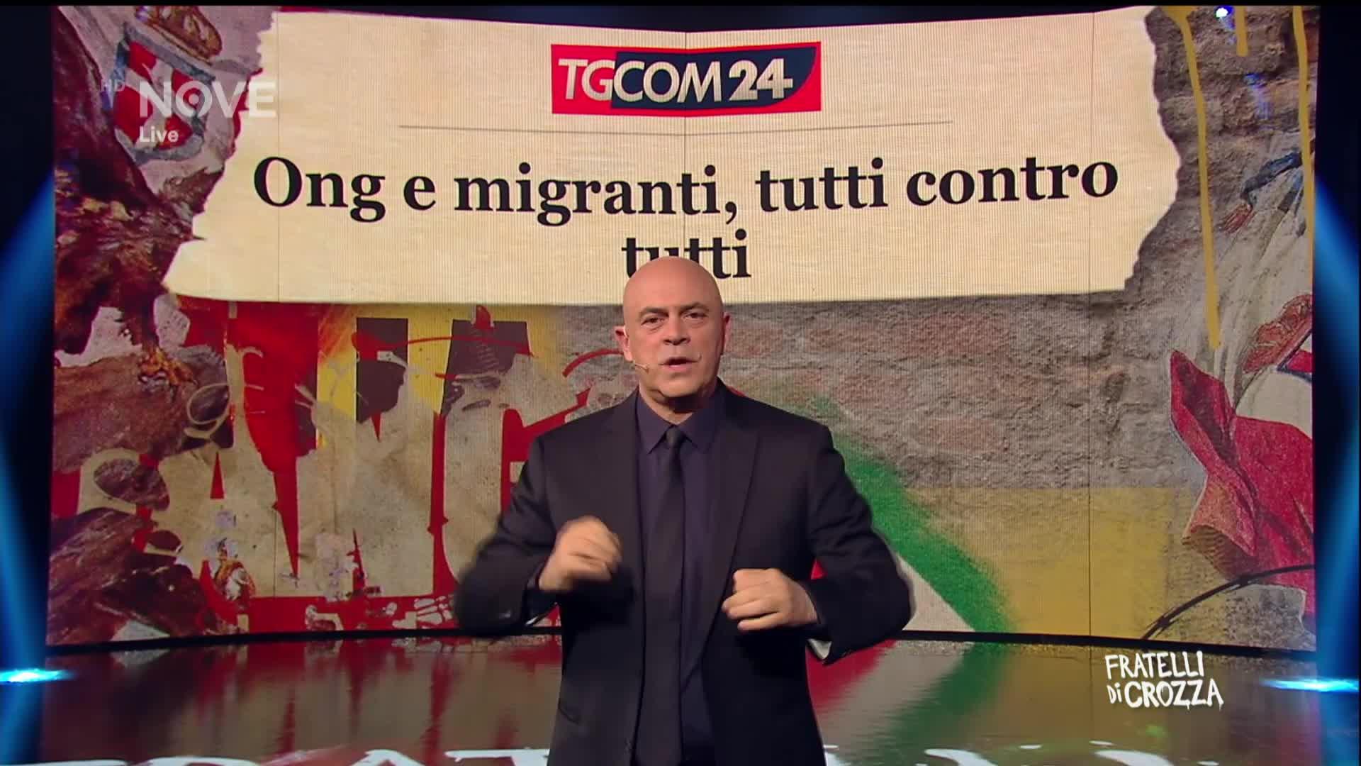 Fratelli di crozza maurizio crozza ong migranti e legge for Successione legittima fratelli
